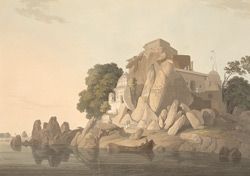 S.W. view of the Fakeer's Rock in the River Ganges